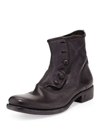 Bowery Button Boot, Black by John Varvatos at Neiman Marcus.