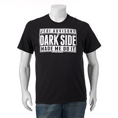 "Fifth Sun Star Wars ""The Dark Side Made Me Do It"" Tee - Big & Tall"