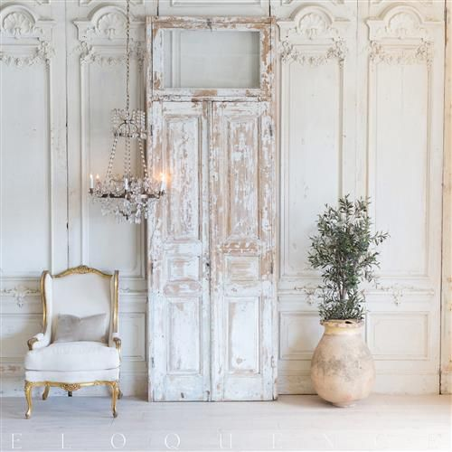 French Country Style Vintage Doors 1940 In 2020 French Doors Interior French Country Bedrooms Country House Decor
