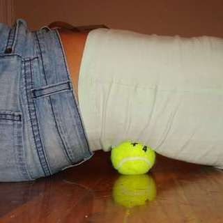Tennis Ball Lower Back Massager