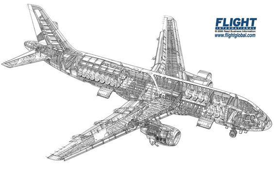 Airbus A320 Cutaway Drawing