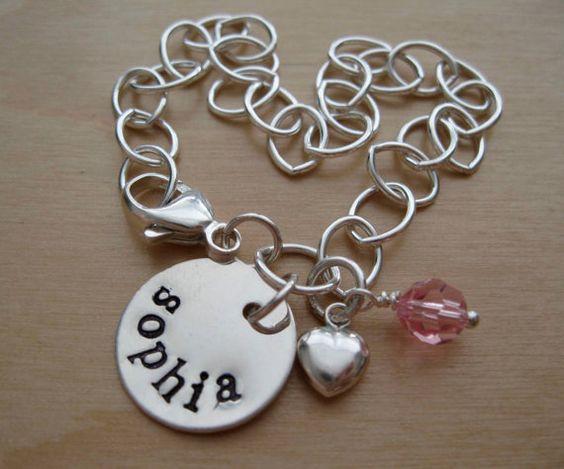personalized hand stamped bracelet    hellolovelyjewelry.etsy.com