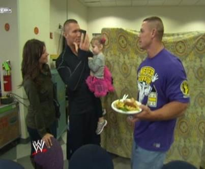 Randy Orton along with his wife Samantha Orton and his ...