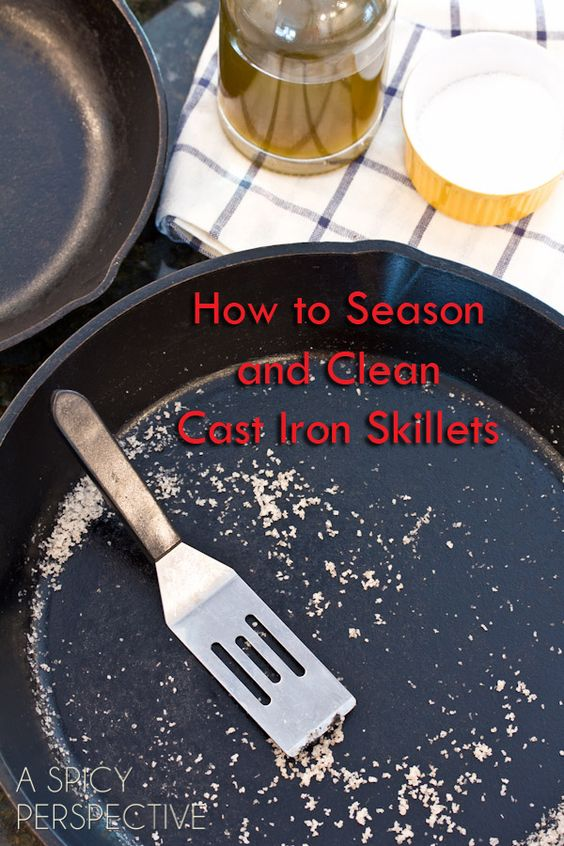 how to clean iron skillet with salt