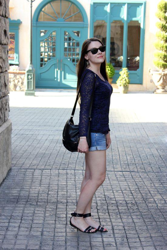 Isabel Marant tee - H&M shorts - Maje sandals