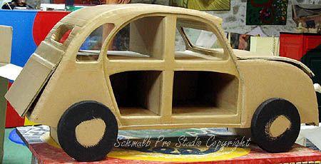 Meuble voiture 2cv citroen en carton