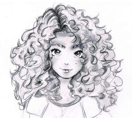 Anime Girl Curly Hair