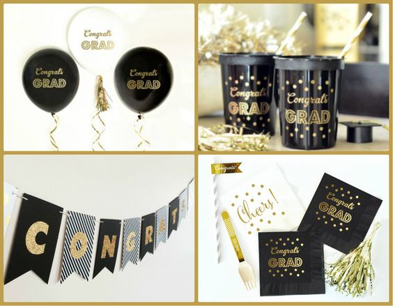 Black and Gold Graduation Decor from HotRef.com