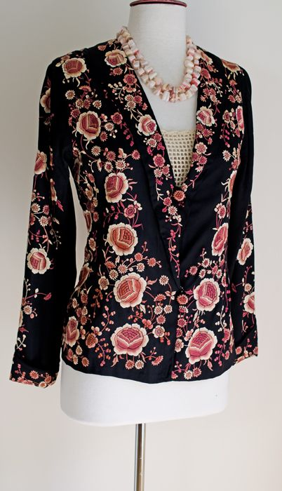 Embroidered Jacket Embroidered Silk And Jackets On Pinterest
