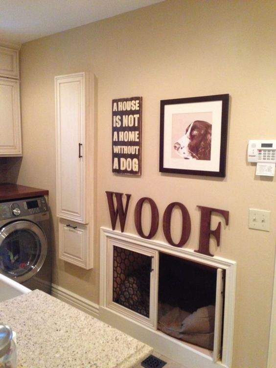 Hmm this would save space built in crate areas mud room pinterest pets a house and ideas - Laundry room ideas small spaces collection ...