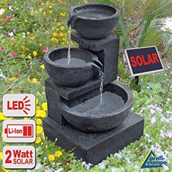 Gartenbrunnen Brunnen Solar Brunnen Zierbrunnen Vogelbad Wasserfall Gartenleuchte Teichpumpe Springbr Springbrunnen Garten Springbrunnen Wasserbrunnen Garten