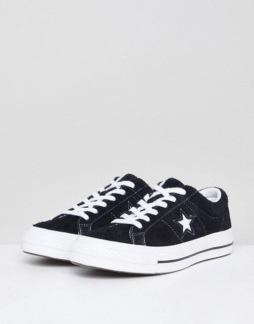 Converse One Star black suede sneakers   Shoes in 2019