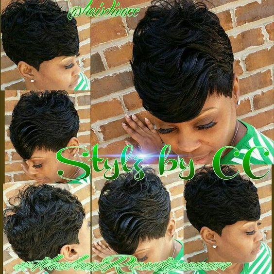 Cool Follow Me Short Weave And Love Love Love On Pinterest Short Hairstyles For Black Women Fulllsitofus
