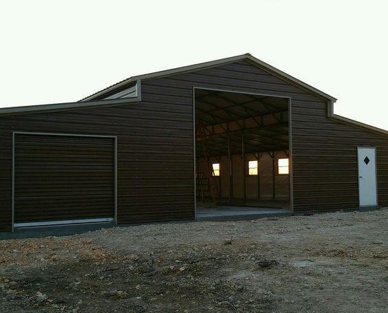 16 48 Wx 51 Lx 12 8 H Barn Vertical Roof Elite Metal Structures Unique Garage Doors Building A Pole Barn Metal Buildings