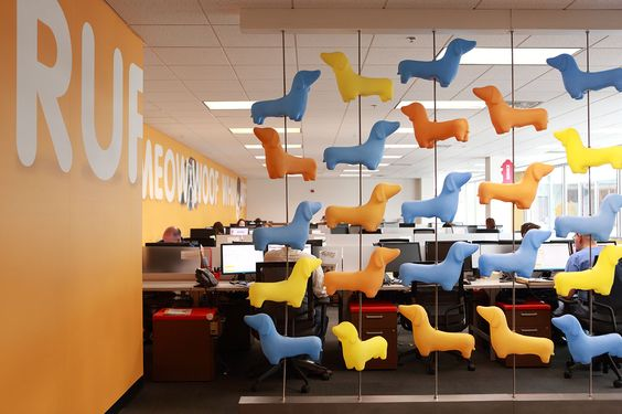 It's easy to have your Dachshunds in a row in the new Petplan pet insurance headquarters in Newtown Square, PA, where our open office layout creates the purrfect opportunity for collaboration: Dachshund, Pet Insurance, Office Layouts, Petplan Pet, Open Office