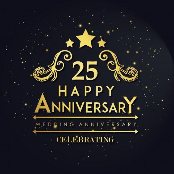 Luxury Royal 25 Wedding Anniversary Free Free Vector Freepik Freevector Happy Anniversary Cards Happy Wedding Anniversary Cards Happy Anniversary Photos