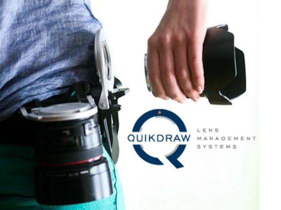 Quikdraw - an innovative lens holster by Riley Kimball, via Kickstarter.