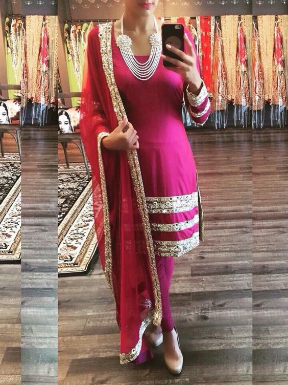 Pink Bollywood Replica Designer Party Wear Dress  Punjabi suits ...
