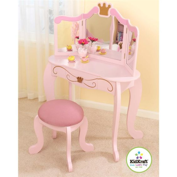 Check out the KidKraft Princess Suite Diva Vanity and Stool from BabyAge.com!