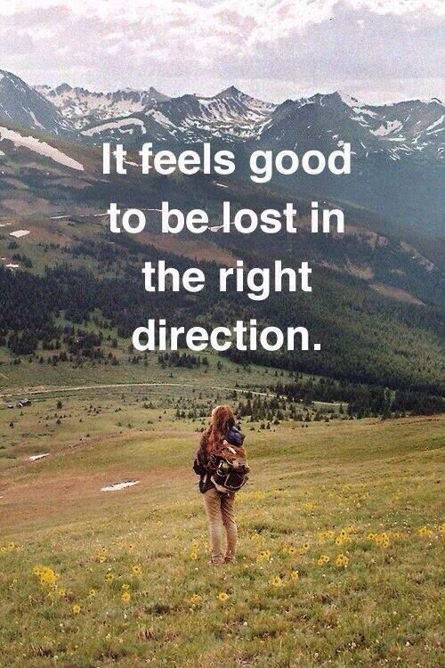 Lost in the right direction: