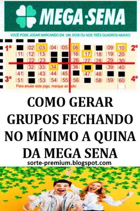 Mega Sena Gerador De Combinacoes Premiadas Mega Sena Sena Loteria