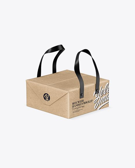 Download Kraft Paper Box With Handles Mockup Half Side View In Box Mockups On Yellow Images Object Mockups Mockup Free Psd Mockup Free Download Free Psd Mockups Templates