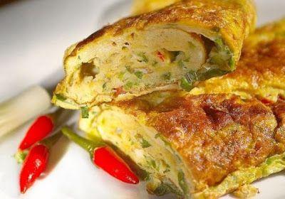 Omelet Telur Sayur Daging Resep Masakan Indonesia Resep Masakan Telur Dadar