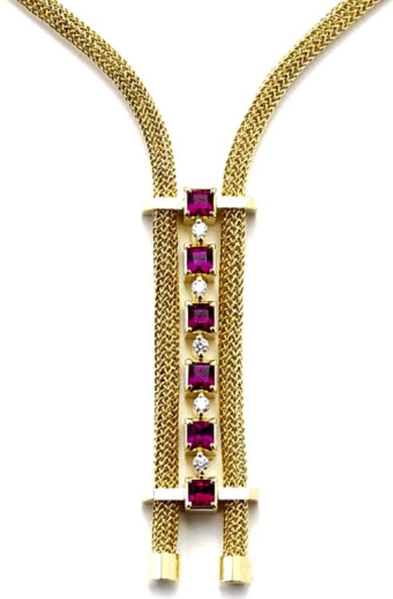 Michael David Sturlin's Red Waterfall Necklace