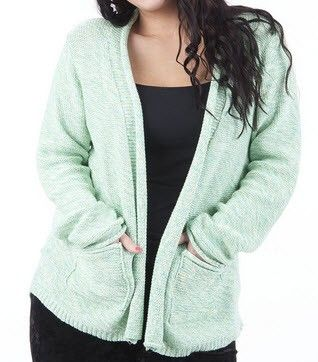 Knitted Cardigan With Front Pockets via Plus Size Online Clothing Store. Click on the image to see more!