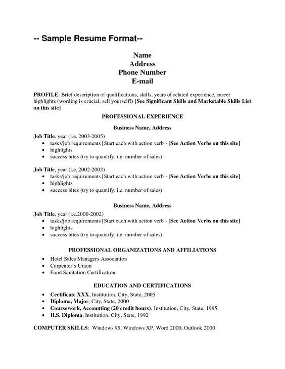 Sample Resume Format Big Cover Letterssample Resumes Cover Letter
