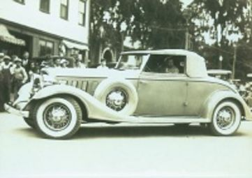 ER's blue Buick roadster--belonged to the furniture factory, 1/3 to ER.: