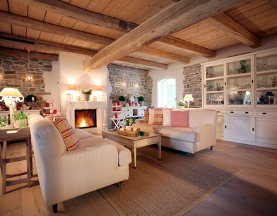 landhausstil wohnzimmer küche - google-suche | wohnzimmer, Innenarchitektur ideen