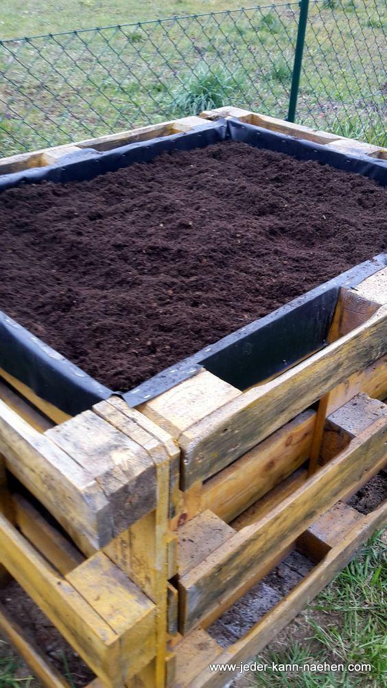 Build A Raised Bed Of Pallets Pallets Garden Garden Beds Diy Garden Bed