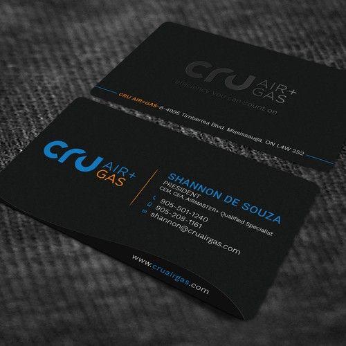 Cru Air Gas Business Card Design Project Business Card Contest Design Business Card Shannona Card Design Business Card Design Cards