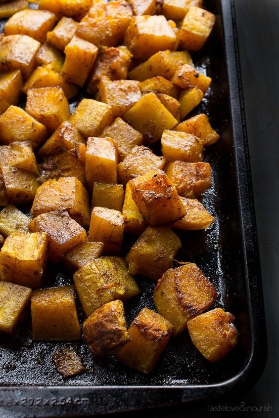 The sweet and nutty flavor of the roasted butternut is so well suited for the flavors of the five-spice. Chinese Five-Spice is a combination of cinnamon, anise, fennel, clove and Szechwan peppercorns. Some combinations include ginger and licorice root in place of the peppercorns. Either variation will work great with this.