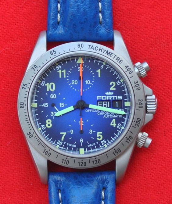 FORTIS Official Cosmonauts Chronograph Automatic Blue Watch 630.22.141 New! #Fortis #Casual