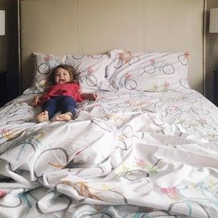 Christine, from Just Bella, and her daughter enjoyed our Spring Ride percale bedding as part of the Mother's Day edition of Bloggers Favorite Things hosted by Brooklyn Limestone!