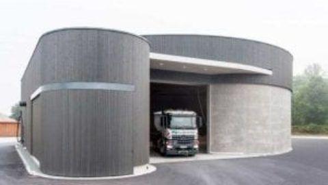 Side Sliding Garage Doors Save Overhead Space Rundum Meir In 2020 Garage Doors Sliding Garage Doors Rolling Garage Door