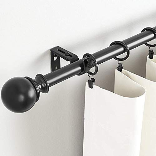Umikk Adjustable Curtain Rod Brackets Black Set Of 10 Also Known As Curtain Rod Holder In 2020 Curtain Rod Holders Curtain Rods Curtain Rod Brackets