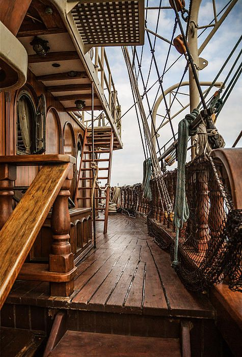 Old Sailing Ships Deck...