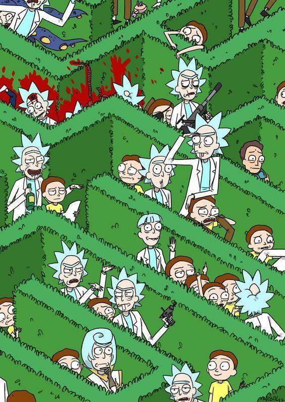 50 Wallpapers Rick And Morty Para Celular Papeis De Parede Para