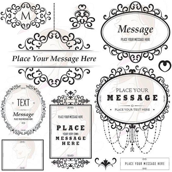 floral frame ornaments commercial use diy logo business