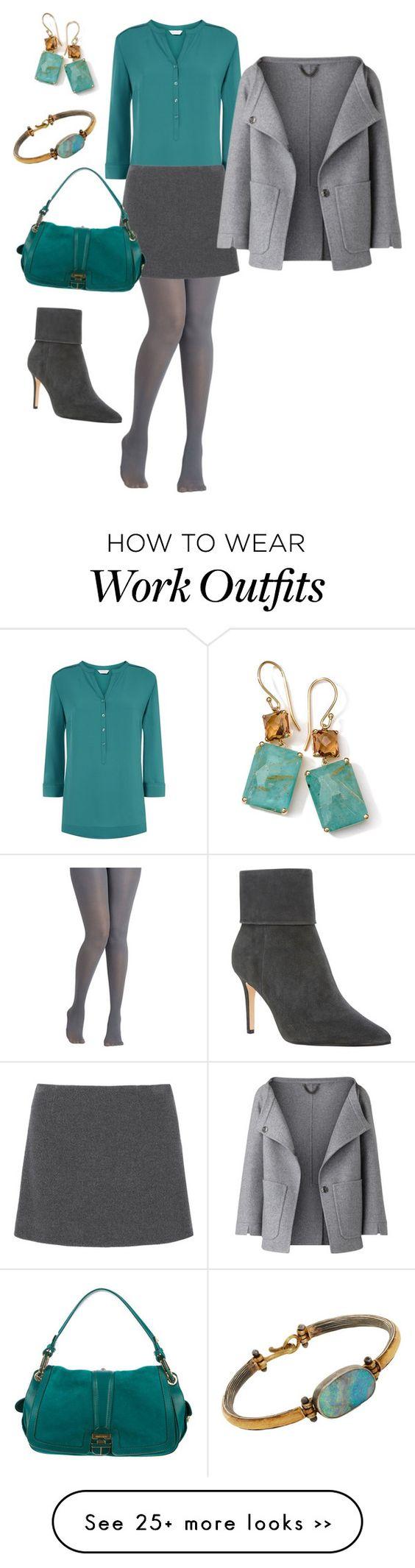 """""""teal & grey officewear"""" by jeannettembeltran on Polyvore"""