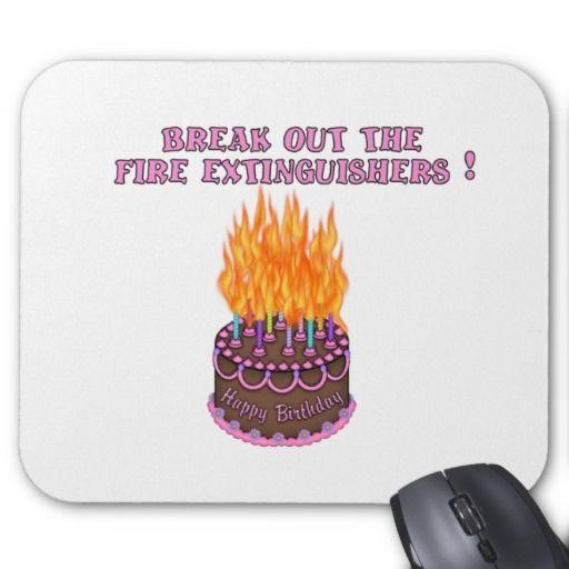 Happy Birthday Debbie Fire Cake