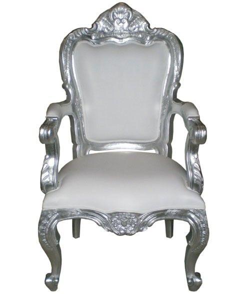 Fauteuil baroque blanc  Pinterest  Baroque, Mariage et