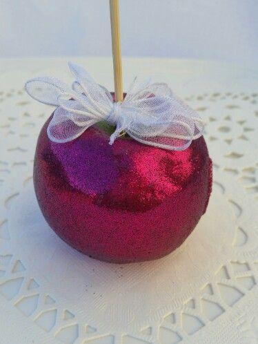 Manzana con diamantina!