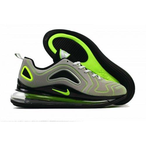 Kaufen 2018 Nike Air Max720 Herren Laufschuhe Grau Grun Schwarz Sale In 2020 Nike Air Herren Laufschuhe Laufschuhe