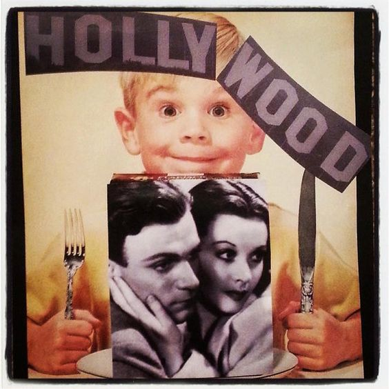 Vivien Leigh Being Eaten by Hollywood Vintage Ad Mini Collage