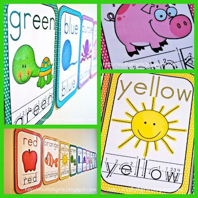 Color Word Cards!! Great way to make your classroom bright and cheerful!