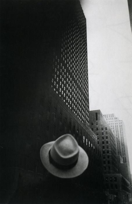 Louis Faurer    Looking Toward RCA Building at Rockefeller Center    New York City, 1949.  Wonderful disembodied hat.